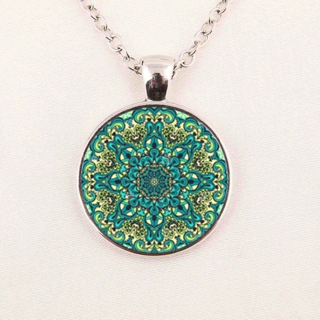 la mejor actitud bf2f7 aa574 US $1.94 35% OFF|New Mandala Necklace Mandala Jewelry Art Pendant For  Necklace Sliver Gifts For Her-in Pendant Necklaces from Jewelry &  Accessories on ...
