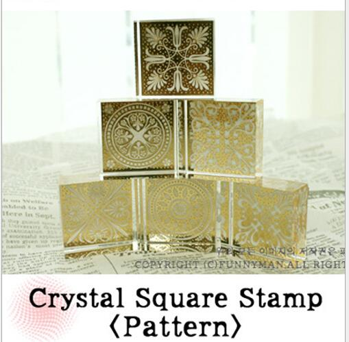Free Shipping Crystal Square Stamps Christmas Wedding Favours Card Craft Gift postcards sunshine creative beautiful green greeting card christmas card birthday card gift cards free shipping 30pcs lot