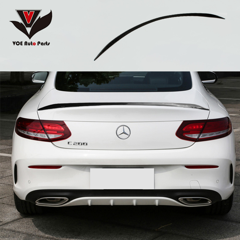 voe w205 coupe 2 door carbon fiber c63 style rear lip. Black Bedroom Furniture Sets. Home Design Ideas
