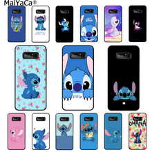MaiYaCa The Stitch Colorful Cute Phone Accessories Case for Samsung note 3 4 5 7 8 9 Huawei P9 lite mate 20 X Pro case(China)
