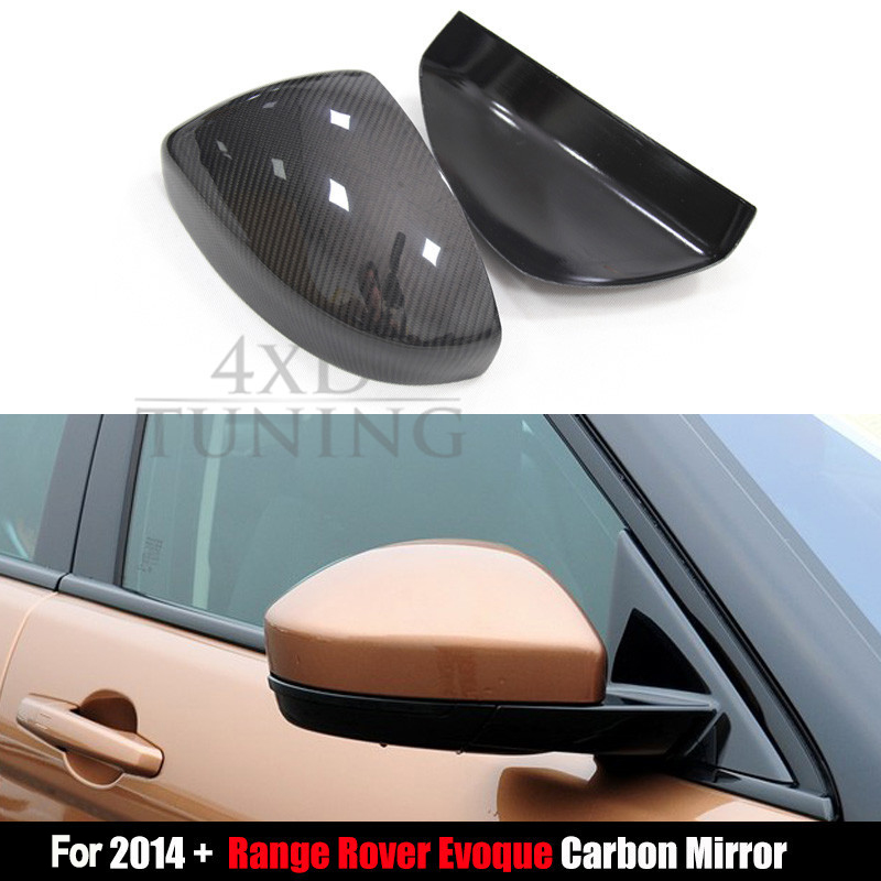 2014 2015 2016 For Land Rover Range Rover Evoque Carbon Fiber Rear View Side Mirror Cover Add On Style коврики в салон land rover range rover evoque 2011