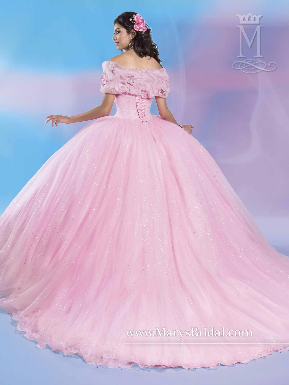 Sweet 16 Dress Shimmering tulle quinceanera ball gown sweetheart ...