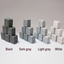 New store BIG sale! Whisky stones 9pcs set in velvet bag, 2sets/lot, 3 colors(dark gray, light gray&white) assorted freely