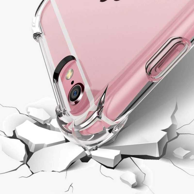 Funda Transparante Shockproof Silicone Cover Case Voor Iphone 11 Pro X Xs Max Xr 6 S 6 7 8 Plus case 360 Clear Beschermen Cover Coque