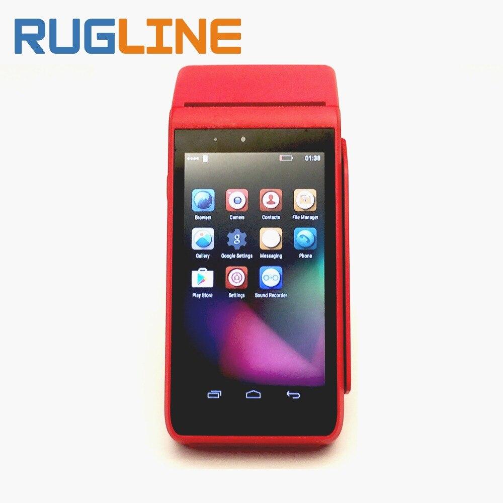 Мобильный смартфон все в одном pos-терминал машины ic/магнитная полоса Card Reader Розничная POS система с 58 мм принтер 2 psam