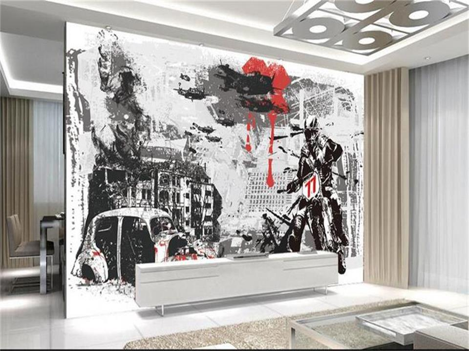 3d photo wallpaper custom living room mural motorcycle racers graffiti painting sofa background non-woven wallpaper for wall 3d book knowledge power channel creative 3d large mural wallpaper 3d bedroom living room tv backdrop painting wallpaper