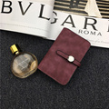 Vintage para mujer carteras y monederos de cuero caja de la tarjeta monedero mujer mujeres bolso de lujo para las niñas Cerrojo billetera money clip Mate