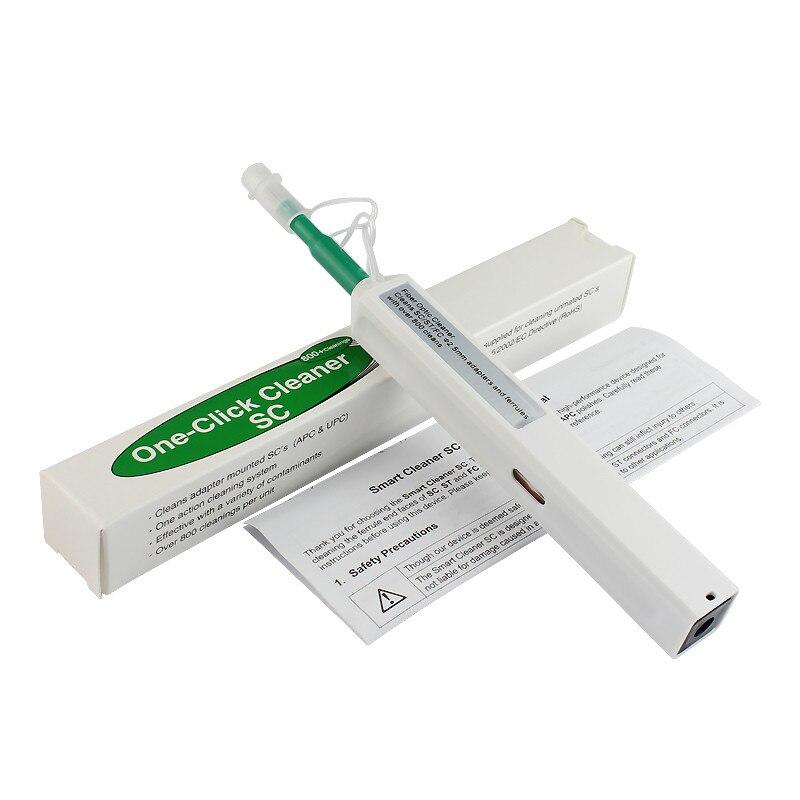 100% Kwaliteit Een Klik Glasvezel Connector Cleaner Pen Voor Sc St En Fc Connectoren 2.5mm Fiber Cleaner Gratis Verzending
