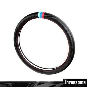 Image 1 - SRXTZM 38cm Car Steering Wheel Cover Carbon Fiber Protection For BMW X1 X3 X5 X6 E36 E39 E46 E30 E60 E90 F30 320i 325i 330i