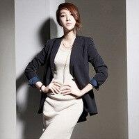 Марка Soild костюм пиджак Slim Fit для женщин; Большие размеры Повседневное высокое качество Блейзер Куртка женщина манто роковой дамы пальто
