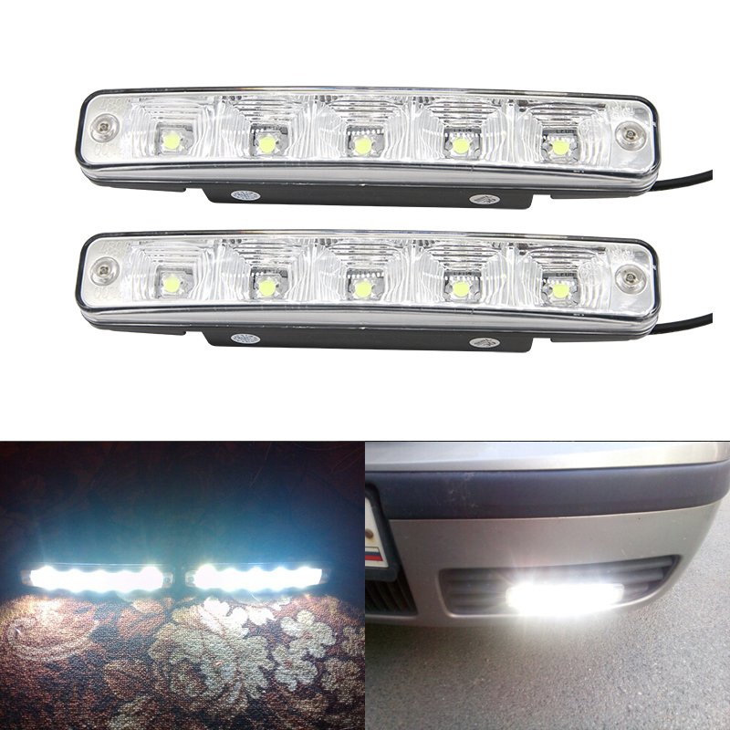 Car Headlight High Power Front Driving Fog Lamp Auto Head Led Daytime Running Daylights DRL White Universal Use Car-Styling