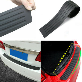 1x Car Rear Bumper Cover Sticker Strip Protector Trunk Sill Scuff Plate Guard Automobiles Exterior Parts Styling Mouldings image