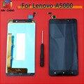 Для Lenovo A5000 Черный/Белый Полный ЖК-Экран Сенсорной Панели Стекло Ассамблеи Запасные Части Бесплатная доставка