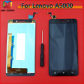 For Lenovo A5000 Black/White Full LCD Display Touch Panel Screen Glass Assembly Replacement Parts Free shipping
