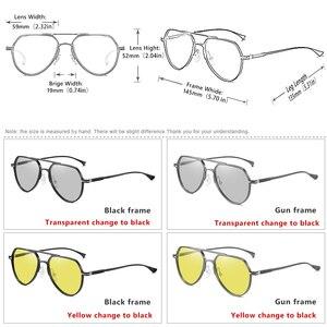 Image 5 - Высококачественные алюминиевые фотохромные солнцезащитные очки, поляризационные мужские и женские очки для ночного видения, желтые очки для вождения gafas de sol