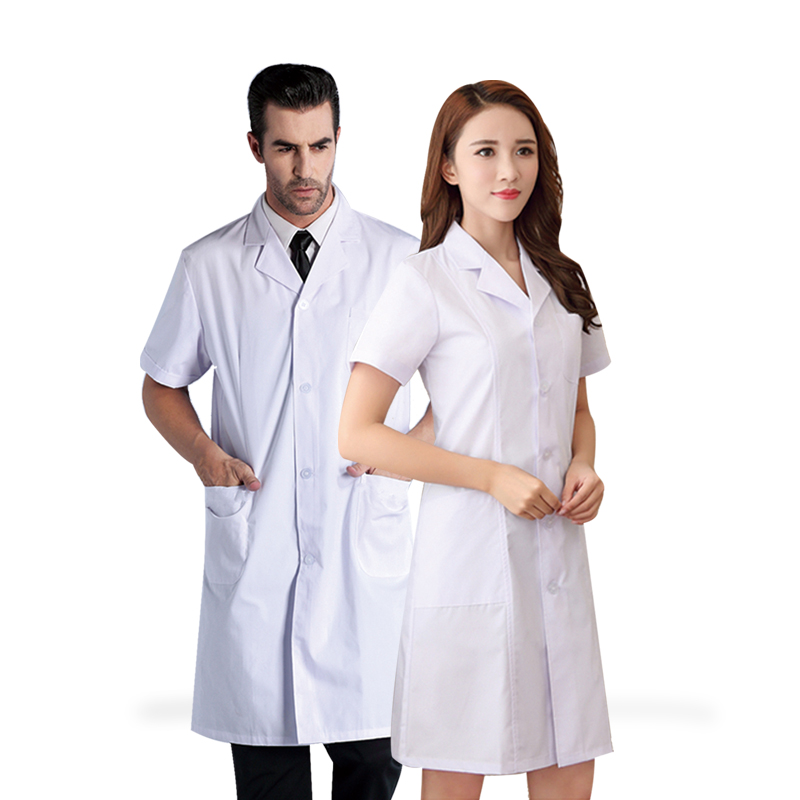 Nurse Uniform white coat for medical use with sleeve and without sleeve