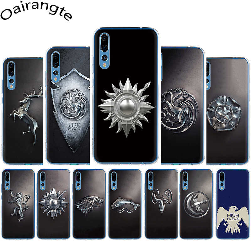 ゲーム魂 Daenerys 9 家紋ハード電話カバーケース Huawei 社の名誉 6A 7A 6C 7C 8C 7 × 8 × 9 × 8 9 10 Lite 再生 20 プロ