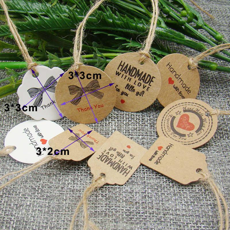 Цветок форма DIY подарок ручной работы Крафтовая бирка/белый упаковка ювелирных
