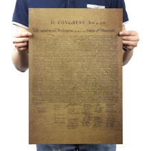Американская декларированная самостоятельность винтажная крафт-бумага классический фильм плакат школьный Декор гаража Настенный декор художественные принты в стиле ретро