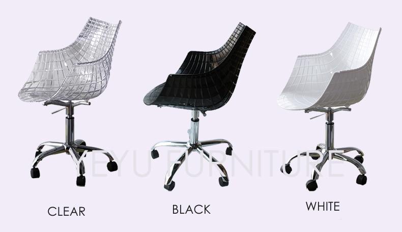 Moderne ontwerp plastic en staal swivel kantoor computer stoel met