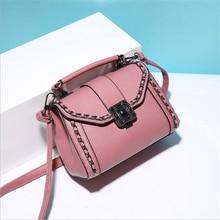 2017 einfache PU Frauen Kleine umhängetasche frauen handtasche messenger schultertasche mit kette handtaschen frauen berühmte marken