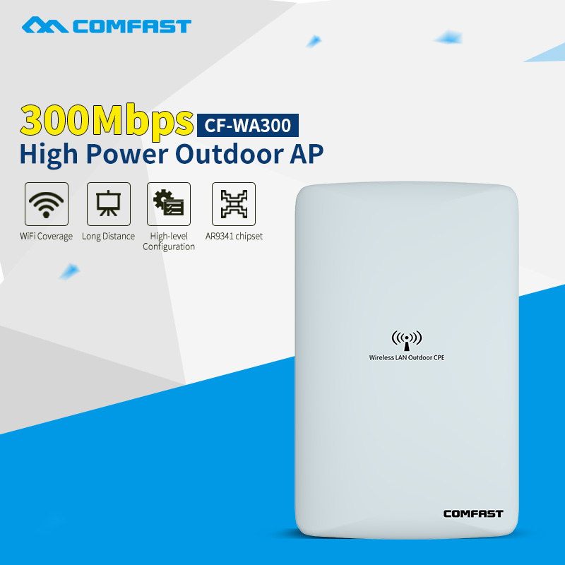 2.4GHz outdoor CPE bridge 300Mbps high power Wireless AP router dual 16dbi WiFi Signal Amplifier WiFi Repeater Signal Booster