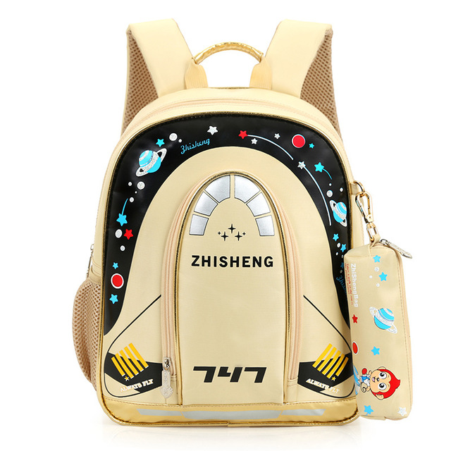 2016 new cartoon rocket stars printing backpack high quality kid canvas cute travel bags teenagers schoolbag film Chila XA10208H