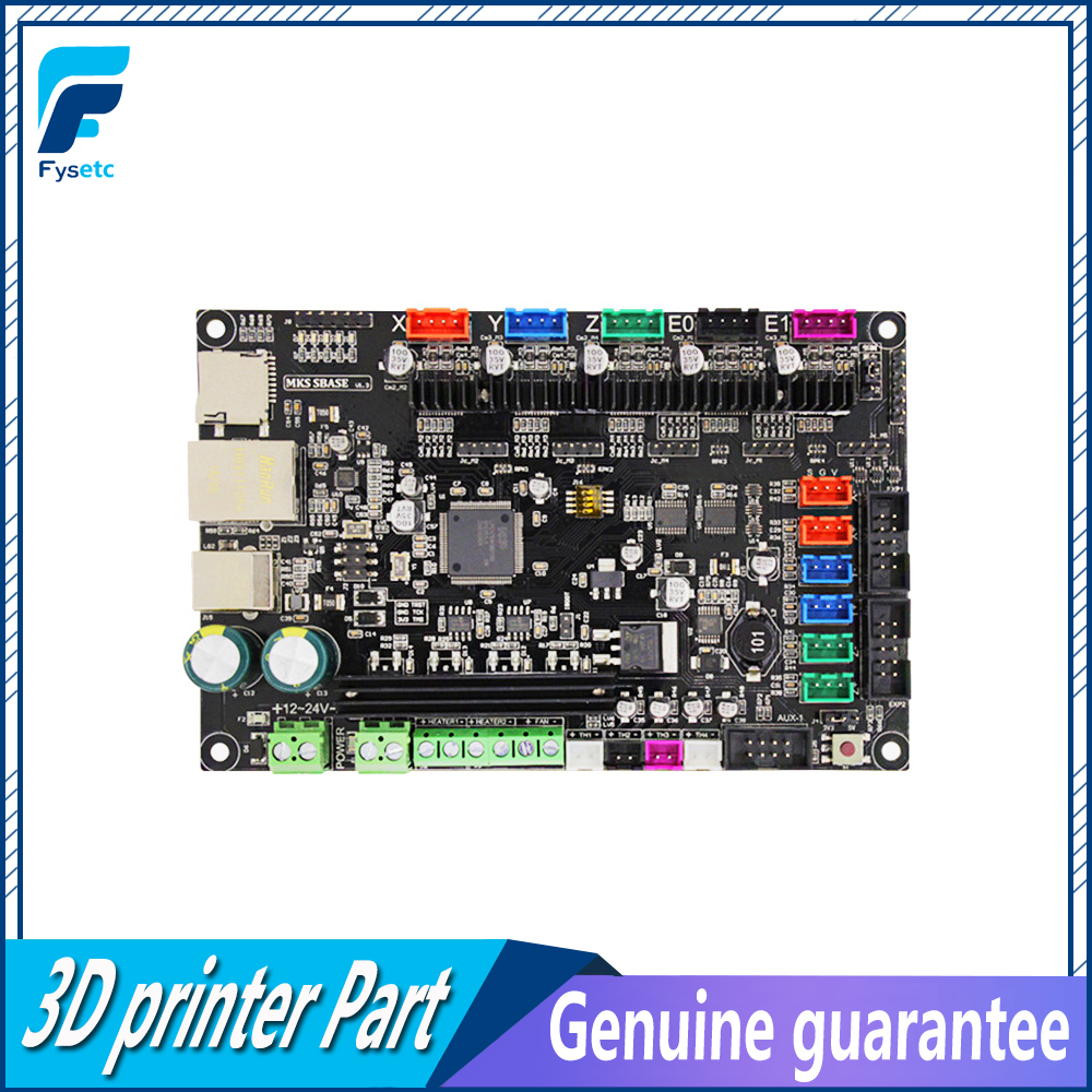 3D impresora Smoothieware controlador MKS SBASE V1.3 Opensource 32bit Smoothieboard soporte de brazo Ethernet preinstalado disipadores