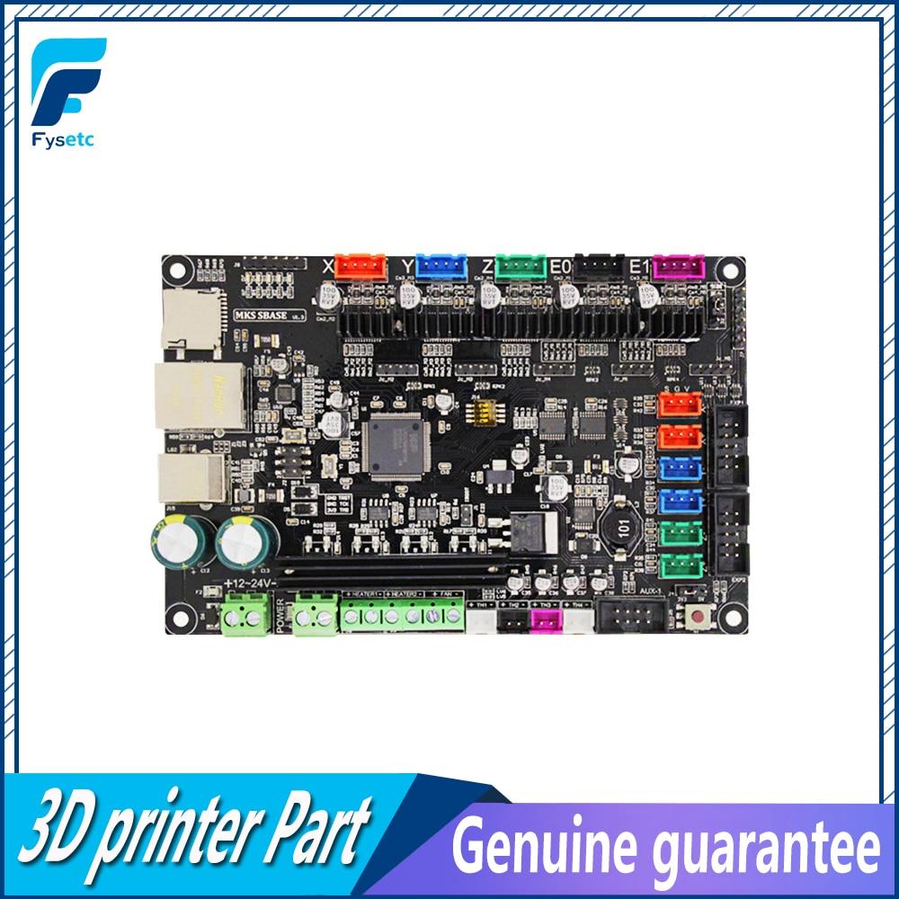 3D impresora Smoothieware controlador MKS SBASE V1.3 Opensource 32bit Smoothieboard soporte brazo Ethernet preinstalado disipadores de calor