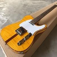 custom shop,classical 6 Strings Rosewood fingerboard handwork Electric Guitar.Tiger Flame guitarra