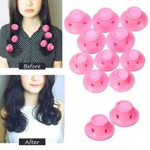10Pcs Professional Hair Tools Magic Home DIY Care Curler Soft Silicone Roller Curling Iron Hairstyle Tool