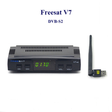 2016 dvb s2 receptor de satélite digital hd Freesat V7 con usb receptor de satélite wifi cccam soporte tv box 1080 P Full HD DVB-S2
