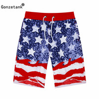 2016 Summer High Waisted Red White Star Beach Women And Men Basketball Bermuda Casual Gym Sweat