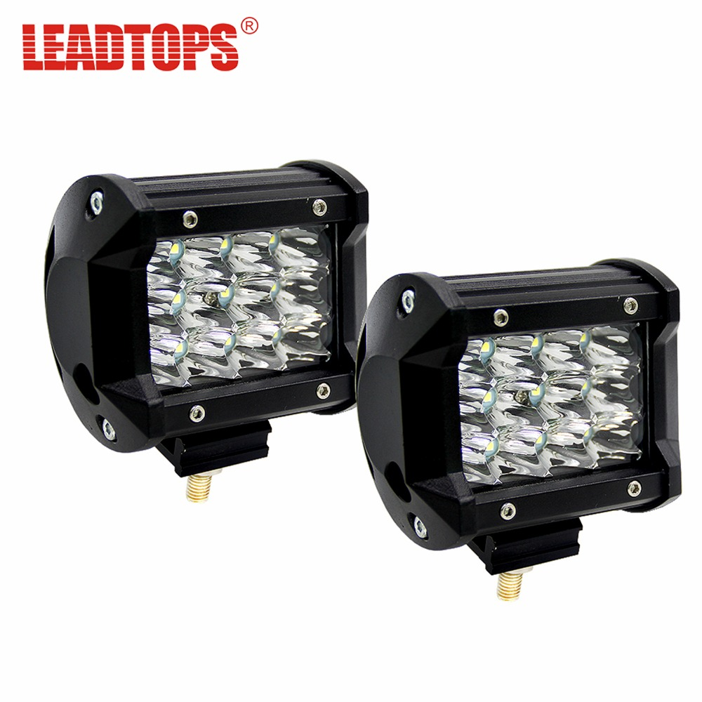 LEADTOPS 36W 4 3-Row Flood Spot Beam Led Work Light Led Bar Offroad Driving Lamp 12v 24v Truck SUV ATV 4x4 4WD Work Lamp BH