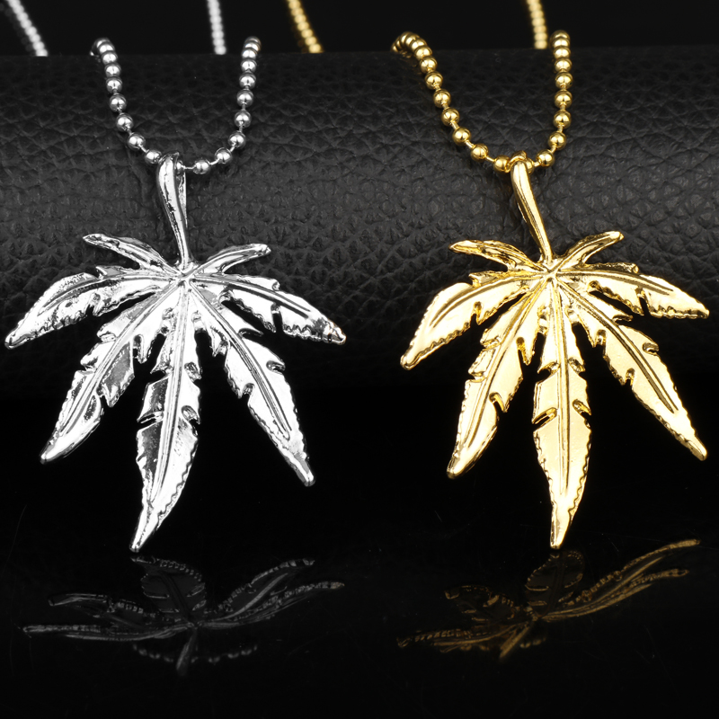 Dongsheng Iced Out Weed Hiphop Necklace Amp Pendant Silver