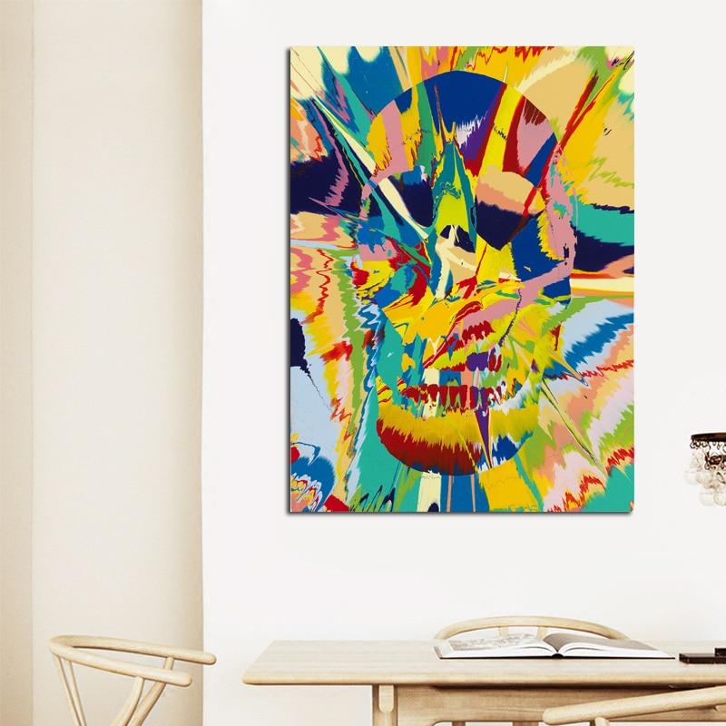 DAMIEN HIRST Canvas Piktura Dot Piktura të shtypura në Canvas - Dekor në shtëpi - Foto 4