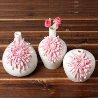 Современная мода домашнего интерьера маленькие керамические вазы цветок стол аксессуары ремесла цветочный горшок