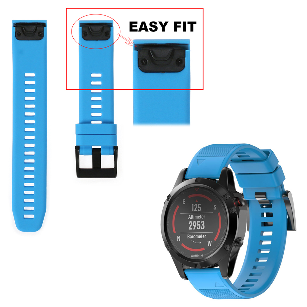 26mm 22mm silicón correa para Garmin Fenix 5X/Fenix3 3 HR/Fenix 5/forerunner 935 reloj Easyfit sustitución Watchbands