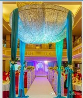 Custom Made Color 2m * 3m Sequins Beads celling Fabric Satin Drape Curtain Wedding Backdrop Round Canopy Party Stage Centerpiece