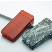 New Marble Style USB Arc Lighter Metal USB Rechargeable Windproof No Gas Smokeless Flameless Electric