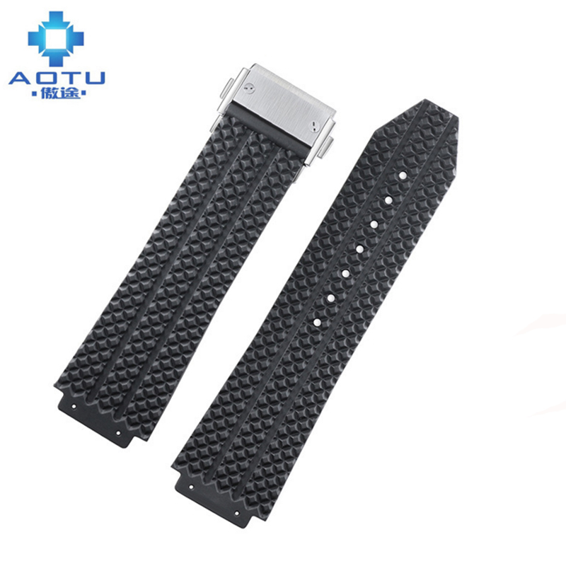 Silicone Watch Straps For HUBLOT BIG BANG Men Watchbands 26mm Silicone Watch Belt For Male Top Brand Watch Strap Saat Kordonu часы hublot big bang boa bang копия