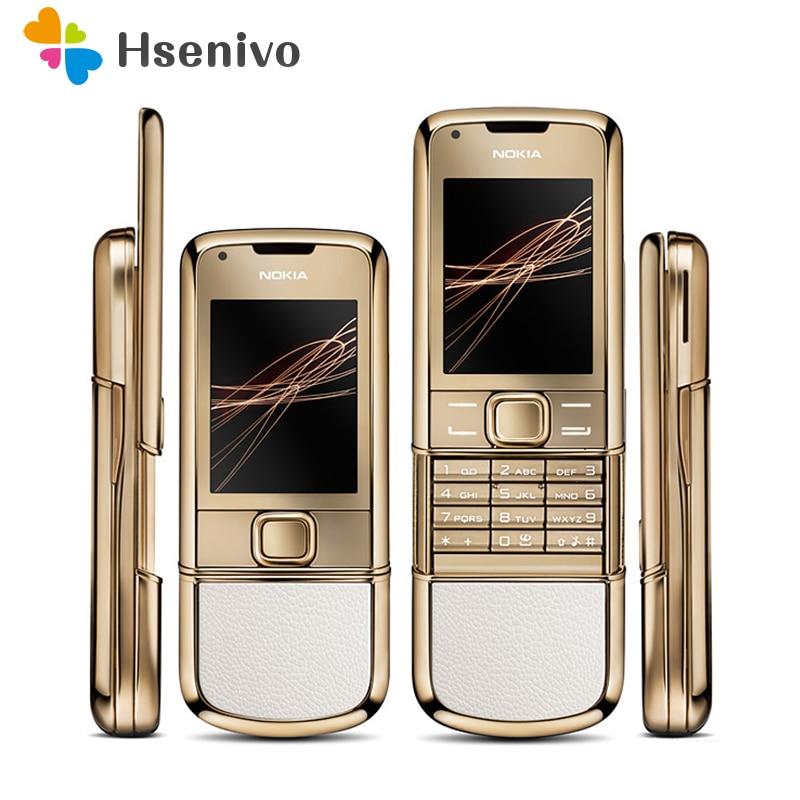 DHL Free shipping 4G internal memory 8800 arte gold nokia original refurbished phone camera 3.15MP feature phone