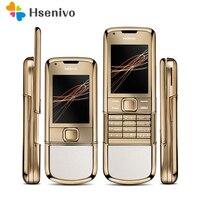 DHL Восстановленное 100% оригинал разблокирована Nokia 8800 Arte Gold 4G внутренней памяти телефона камеры 3.15MP Бесплатная доставка