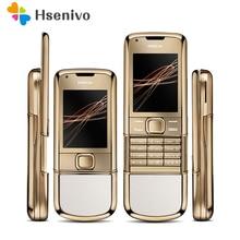 DHL Livraison gratuite 100% Débloqué Original Nokia 8800 Arte D'or 4G Mémoire Interne Téléphone caméra 3.15MP Livraison Cadeaux