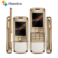 DHL Refurbished 100% Original Unlocked Nokia 8800 Arte Gold 4G Internal Memory Phone camera 3.15MP Free shipping