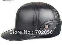 Mens Real Sheepskin Leather Visors Ball Caps Casual HAT CAP 12pcs Lot 3112