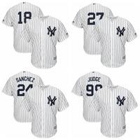 MLB Men S New York Yankees Aaron Judge Giancarlo Stanton Gary Sanchez Didi Gregorius Baseball Jersey