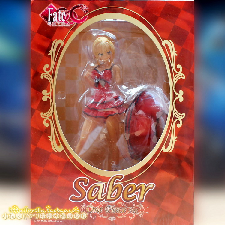 New Game Anime Red Saber swimwear with Parasol Alphamax x Fate Extra CCC 1/7 Scale sexy 25cm Action Figure