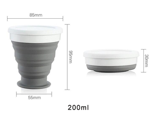 Image 5 - Portable Silicone Telescopic Drinking Collapsible Cup Folding Cups for Travelling