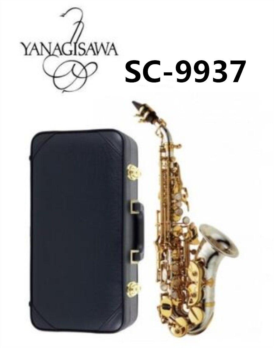 цена на YANAGISAWA Brands Soprano SC-9937 Bb Silvering Quality Brass Sax Super Professional Mouthpiece Soprano Saxophone Free shipping